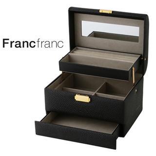 Francfranc - ❤新品箱付き フランフラン フェイン ジュエリーボックス【ブラック】Mサイズ❤