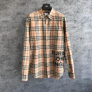 BURBERRY - Burberry ロゴプリント チェックシャツ
