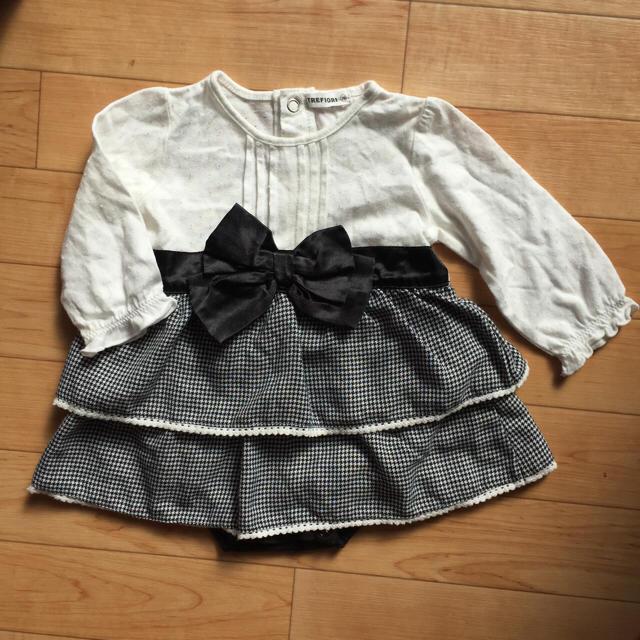 02361e86f041d フォーマルロンパ 女の子 ♡ 70 キッズ ベビー マタニティのベビー服(~85cm)
