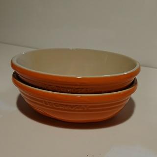ルクルーゼ(LE CREUSET)のサービングボール オレンジ  2個セット(食器)
