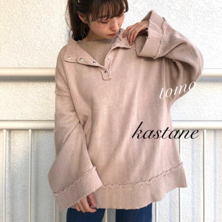 Kastane - 新品❁カスタネ ヘリンボーン裏毛ダメージプルオーバー
