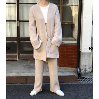 フィーニー(PHEENY)の7G rib knit half cardigan.(ニット/セーター)