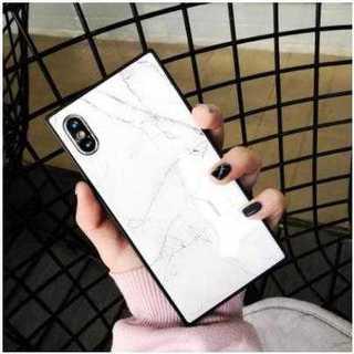 【白・iphone7/8】 iphoneケース 大理石柄 マ(その他)