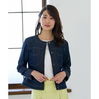 アナイ(ANAYI)の新品未使用タグ付き☆新作アナイ デニムライクノーカラージャケット (Gジャン/デニムジャケット)