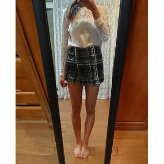 Delyle NOIR - ミニスカート ショートパンツ ツイード Delyle NOIR