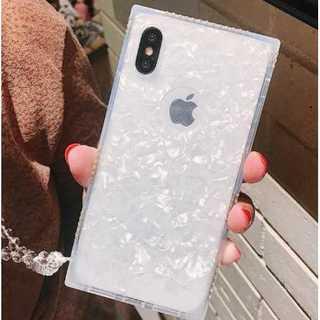 【白・iphoneX対応】 iphoneケース キラキラ ラ(その他)