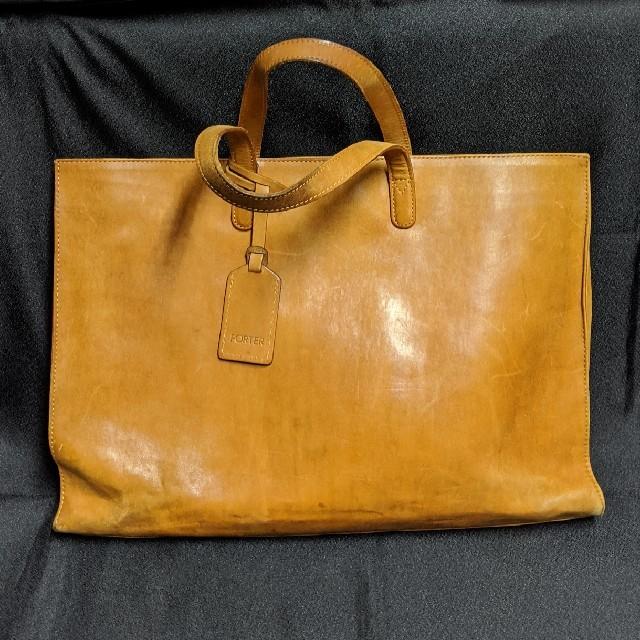 PORTER(ポーター)のPORTERオールレザーハンドバッグ ブリーフケース メンズのバッグ(ビジネスバッグ)の商品写真