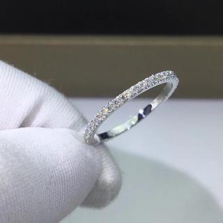 エタニティ モアサナイト ダイヤモンド リング k18WG(リング(指輪))