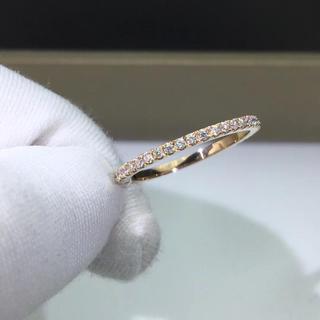 エタニティ モアサナイト ダイヤモンド リング k18PG(リング(指輪))