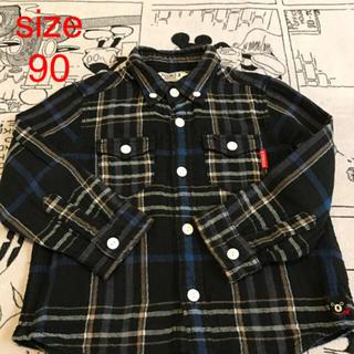 ダブルビー(DOUBLE.B)の☆ダブルB 柔らかガーゼシャツ チェックシャツ 90(ブラウス)