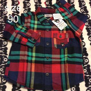 ダブルビー(DOUBLE.B)の☆ダブルB ネルシャツ チェックシャツ 90(ブラウス)