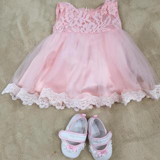 ベビー ドレス 70〜80  ベビーシューズ セット