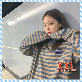 長袖プルオーバー【XXL/ボーダー】(Tシャツ(長袖/七分))
