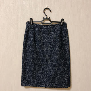 ナチュラルビューティーベーシック(NATURAL BEAUTY BASIC)のナチュラルビューティーベーシック モールラメジャガードスカート(ひざ丈スカート)