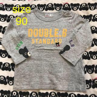 ダブルビー(DOUBLE.B)の★ダブルB ロングシャツ ビーくんグレー 90(Tシャツ/カットソー)