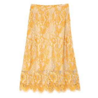 Mila Owen - 配色カラーレーススカート