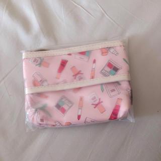 HABA - HABA ハーバー コスメ柄ポーチ ティッシュケース ピンク 雑貨 小物 収納