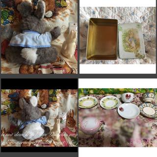 ファミリア(familiar)の激レア ピーターラビット ぬいぐるみ 海外アート 薔薇 食器 ローズ バラ 置物(ぬいぐるみ)