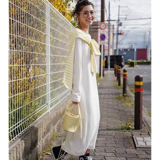 Drawer - gypsohila Longsleeve Dress ホワイト 新品