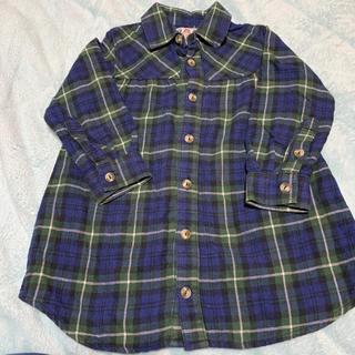 ダディオーダディー(daddy oh daddy)のDADDY OH DADDY チェックシャツチュニック(Tシャツ/カットソー)