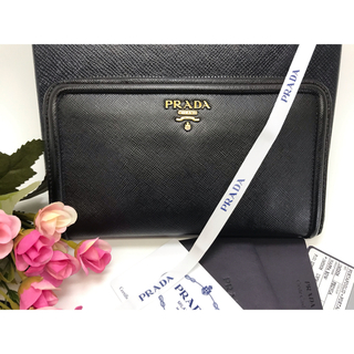 PRADA - 【美品】プラダ PRADA ナッパボウ ラウンドファスナー 長財布