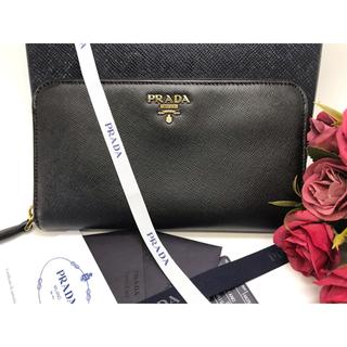 PRADA - 【美品】プラダ PRADA サフィアーノ ラウンドファスナー 長財布