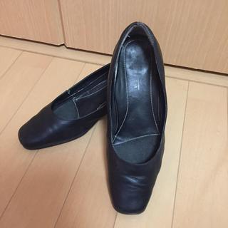 パンプス ブラック リクルート レディース 靴 シューズ ヒール 黒 ビジネス