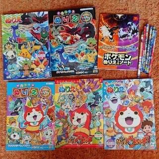 ポケモン - ぬりえ 6冊 鉛筆 セット