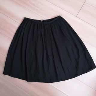 ナチュラルビューティーベーシック(NATURAL BEAUTY BASIC)の黒スカート(ひざ丈スカート)