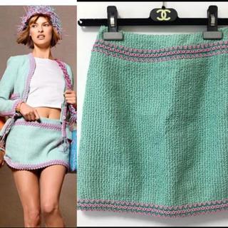 CHANEL - シャネル 正規 流行カラーのツイードスカート