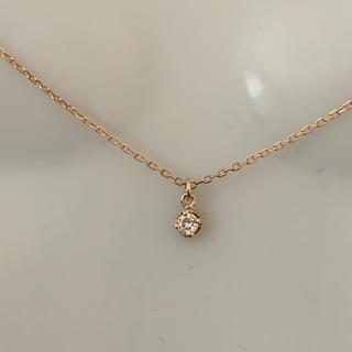 agete - K14 ダイヤモンド 0.05ct  アガットのネックレス ★約40cm