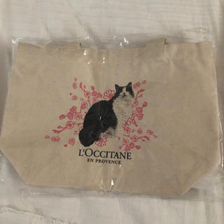 L'OCCITANE - 新品未使用★ロクシタン ノベルティ 猫柄ミニトートバッグ