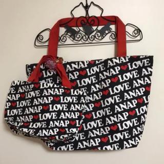 アナップ(ANAP)の♥アナップ ロゴ トートバッグ 2点セット(トートバッグ)