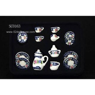 SC0163 ミニチュア食器シリーズ 花柄(ミニチュア)
