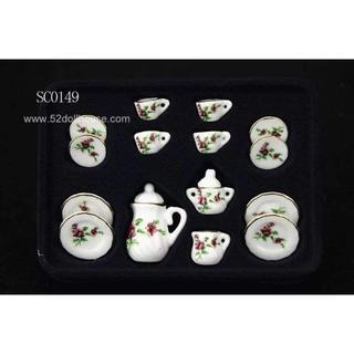 SC0149 ミニチュア食器シリーズ 花柄(ミニチュア)