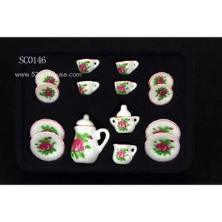 SC0146 ミニチュア食器シリーズ 花柄(ミニチュア)