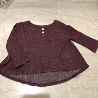 ベビーギャップ(babyGAP)のバックギャザー ワインレッド トップス 90cm(Tシャツ/カットソー)