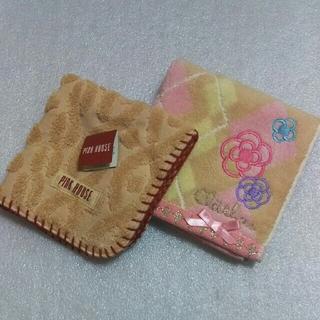 PINK HOUSE - ピンクハウス&クレイサス☆タオルハンカチ2枚セット