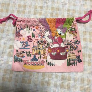 Disney - ディズニー 巾着 ポーチ ピンク