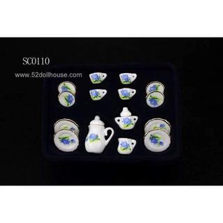 SC0110 ミニチュア食器シリーズ 花柄(ミニチュア)