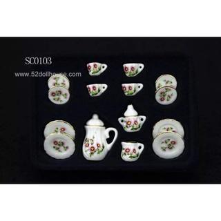 SC0103 ミニチュア食器シリーズ 花柄(ミニチュア)