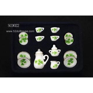 SC0022 ミニチュア食器シリーズ 三つ葉(ミニチュア)
