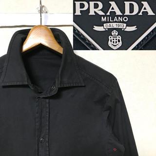PRADA - 名品!イタリア製!PRADA プラダ ストレッチコットン スナップボタンシャツ