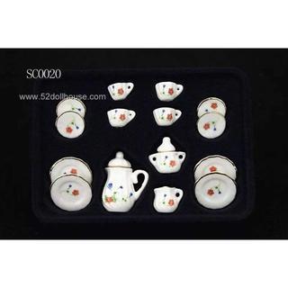 SC0020 ミニチュア食器シリーズ 花柄(ミニチュア)