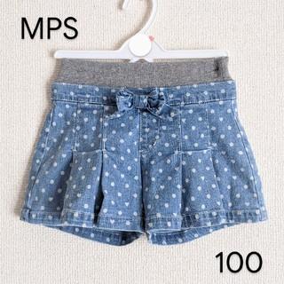 エムピーエス(MPS)のMPS デニムショートパンツ 100cm(スカート)