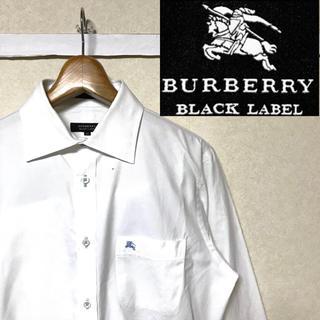 BURBERRY BLACK LABEL - 希少!BURBERRYブラックレーベル  ホースマークノバチェック ドレスシャツ