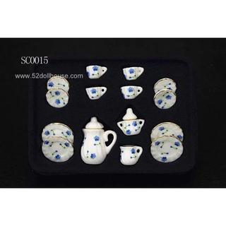 SC0015 ミニチュア食器シリーズ 花柄(ミニチュア)