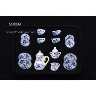 SC0009 ミニチュア食器シリーズ 花柄(ミニチュア)