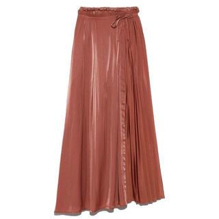 リリーブラウン(Lily Brown)のlily brown リリーブラウン プリーツコンビスカパン(ロングスカート)
