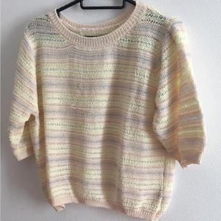 ラグナムーン(LagunaMoon)の春色 ニットカットソー(カットソー(半袖/袖なし))